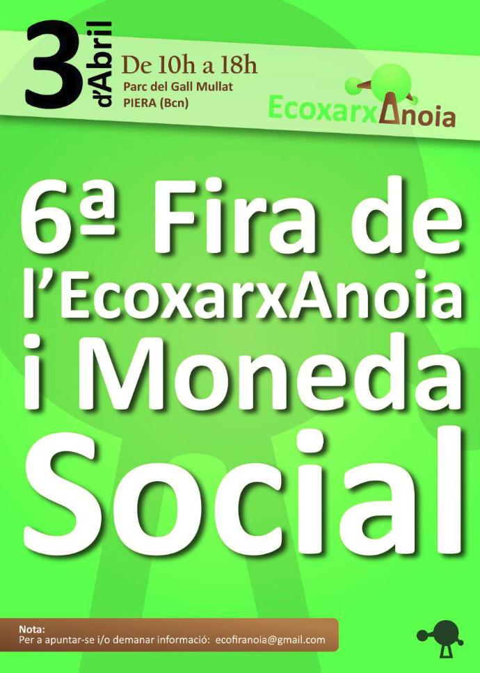 6ª Fira de l'EcoxarxAnoia
